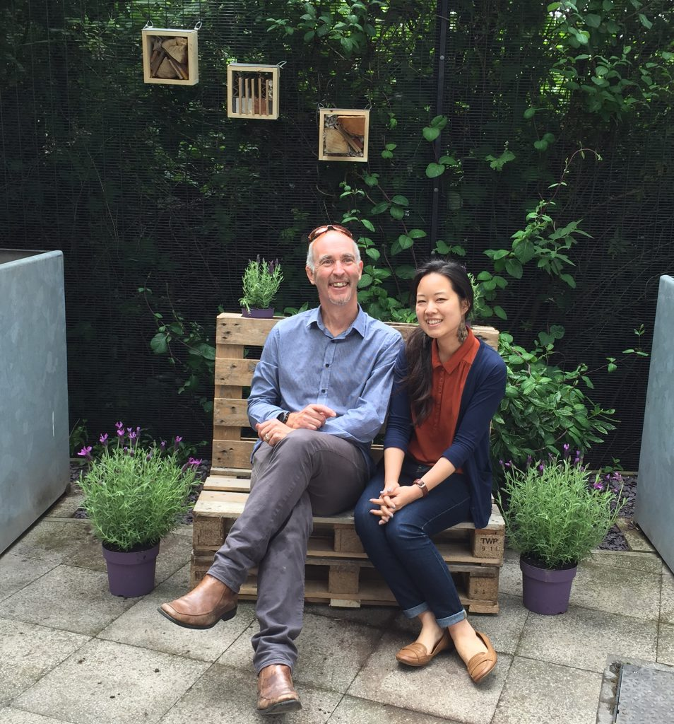 cardiff bench and insect hotel