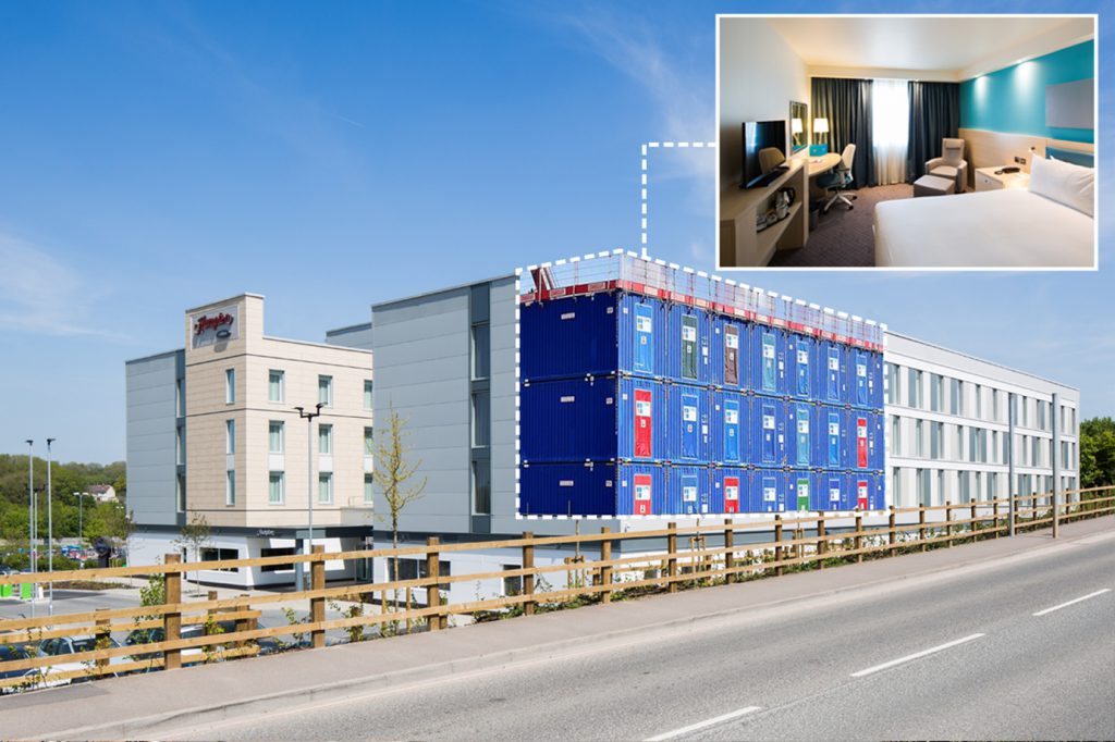 modular construction on Bristol airport hotel